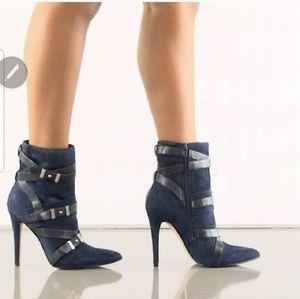 Guess suede high heel booties